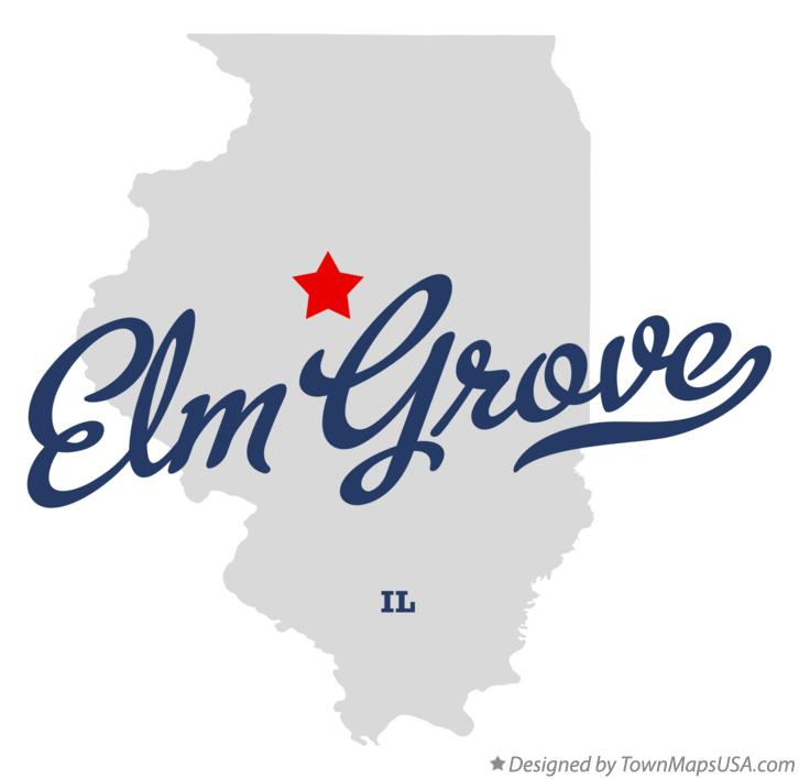 Map of Elm Grove Illinois IL