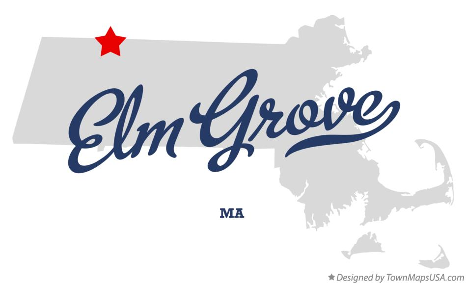 Map of Elm Grove Massachusetts MA