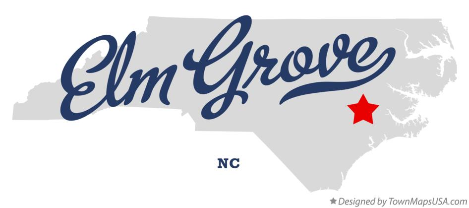 Map of Elm Grove North Carolina NC