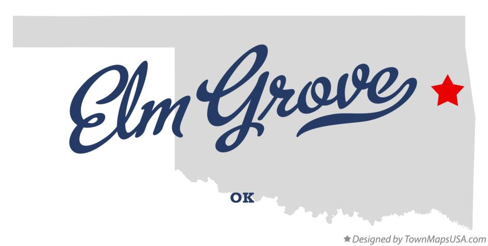 Map of Elm Grove Oklahoma OK