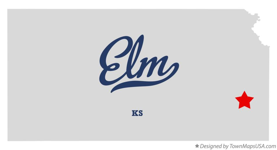 Map of Elm Kansas KS