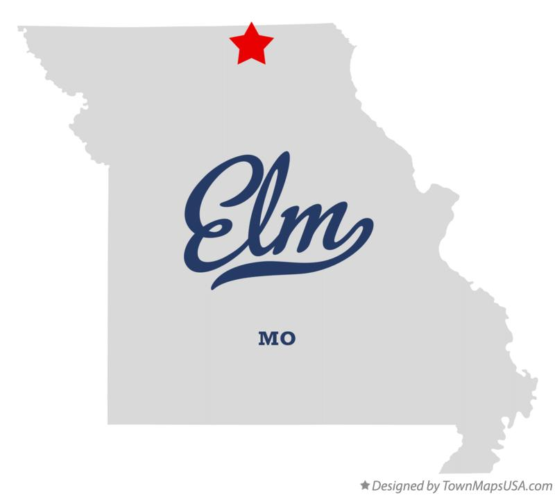 Map of Elm Missouri MO