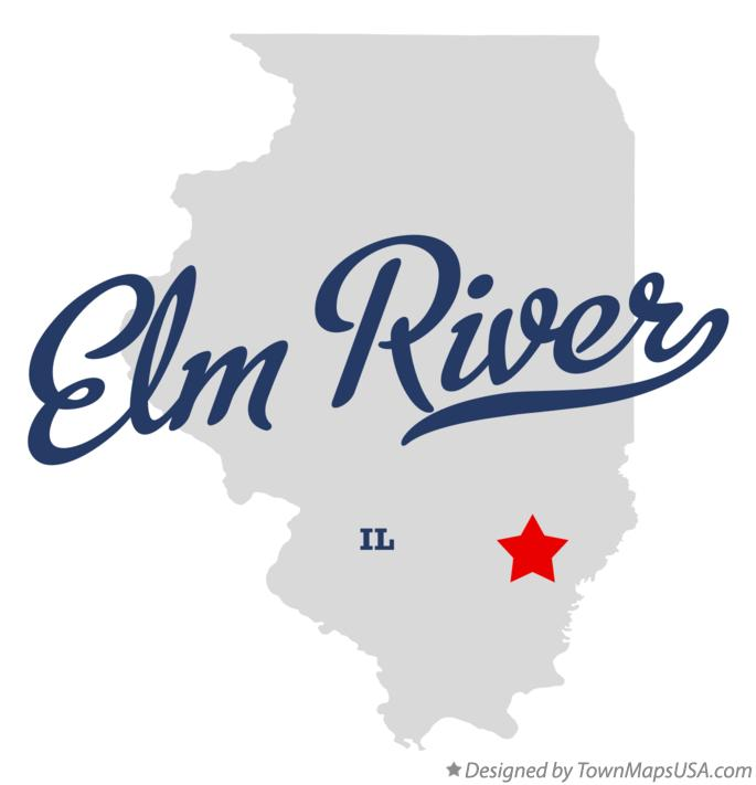 Map of Elm River Illinois IL