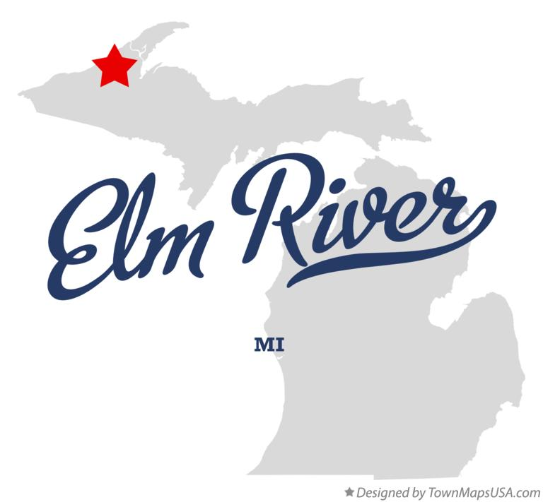 Map of Elm River Michigan MI