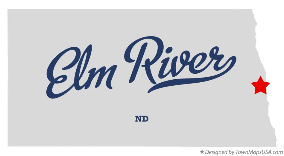 Map of Elm River North Dakota ND
