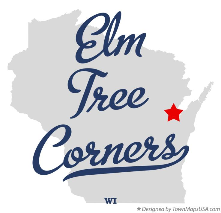 Map of Elm Tree Corners Wisconsin WI