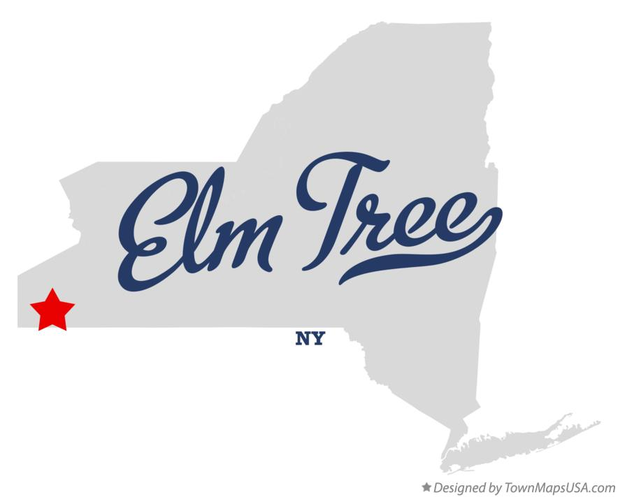 Map of Elm Tree New York NY