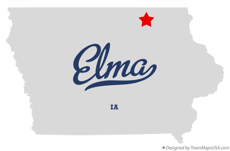 Map of Elma Iowa IA