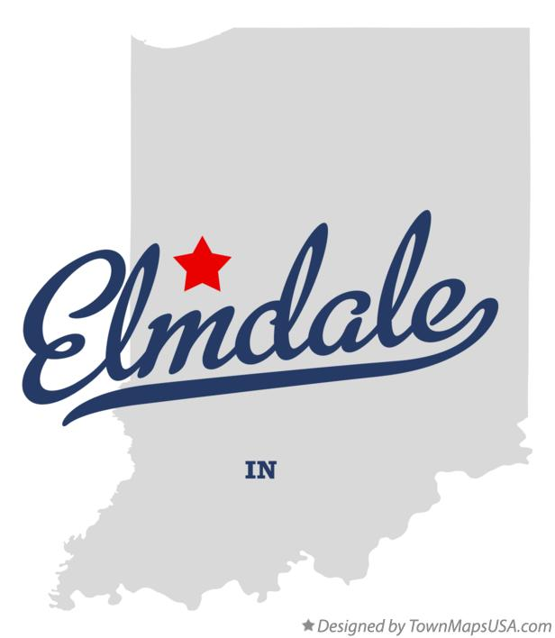 Map of Elmdale Indiana IN