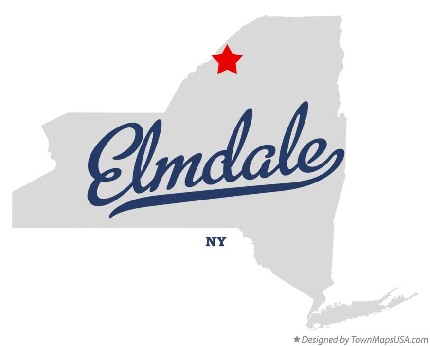 Map of Elmdale New York NY