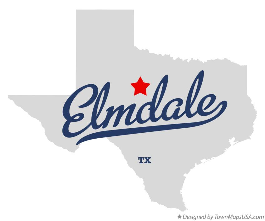 Map of Elmdale Texas TX