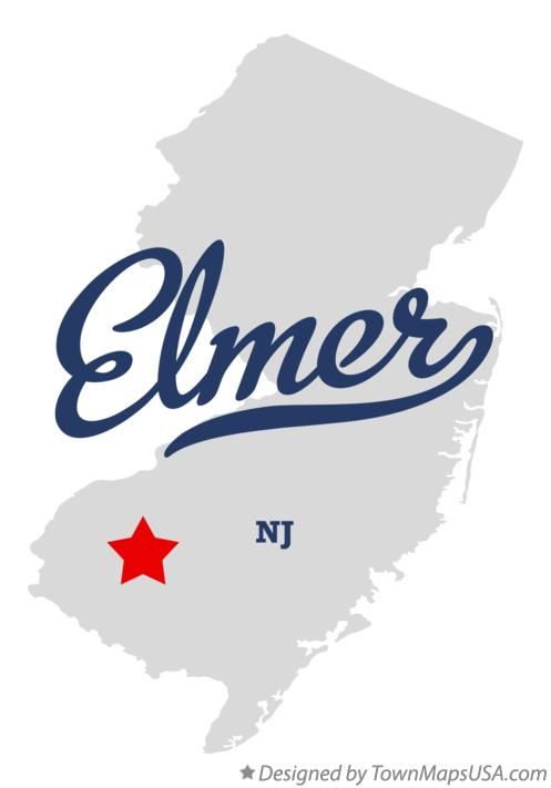 Map of Elmer New Jersey NJ
