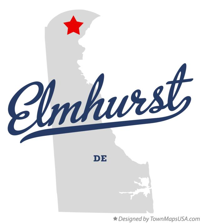 Map of Elmhurst Delaware DE