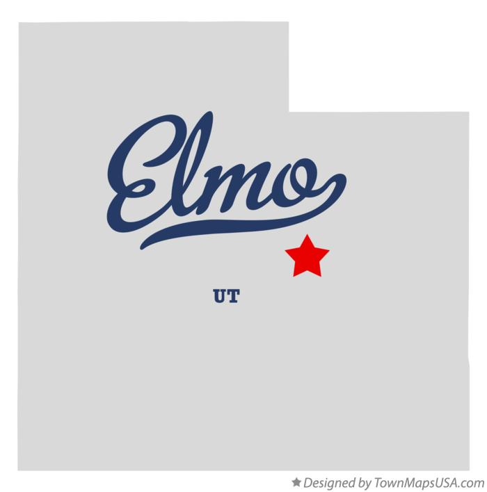 Map of Elmo Utah UT