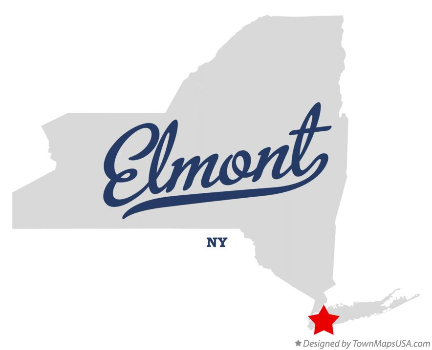Map of Elmont New York NY