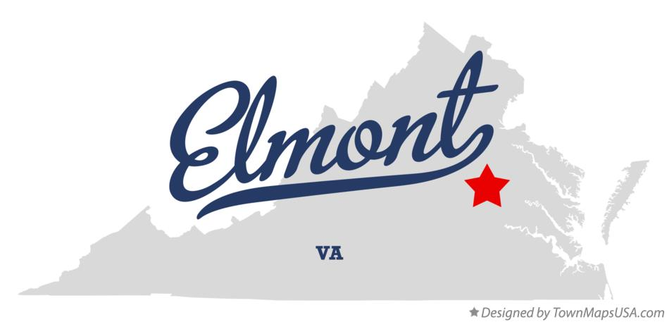 Map of Elmont Virginia VA