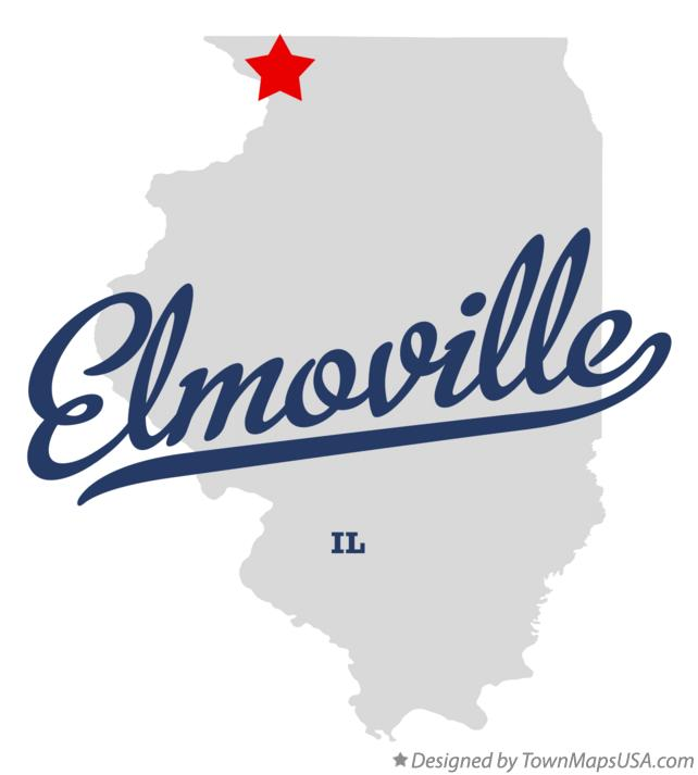 Map of Elmoville Illinois IL