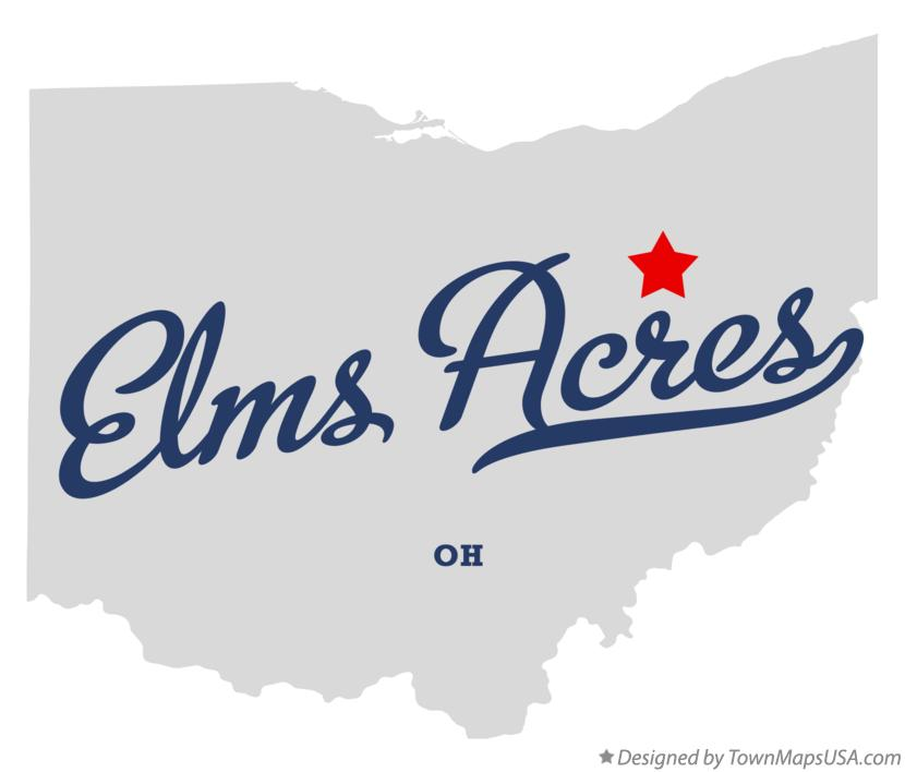Map of Elms Acres Ohio OH