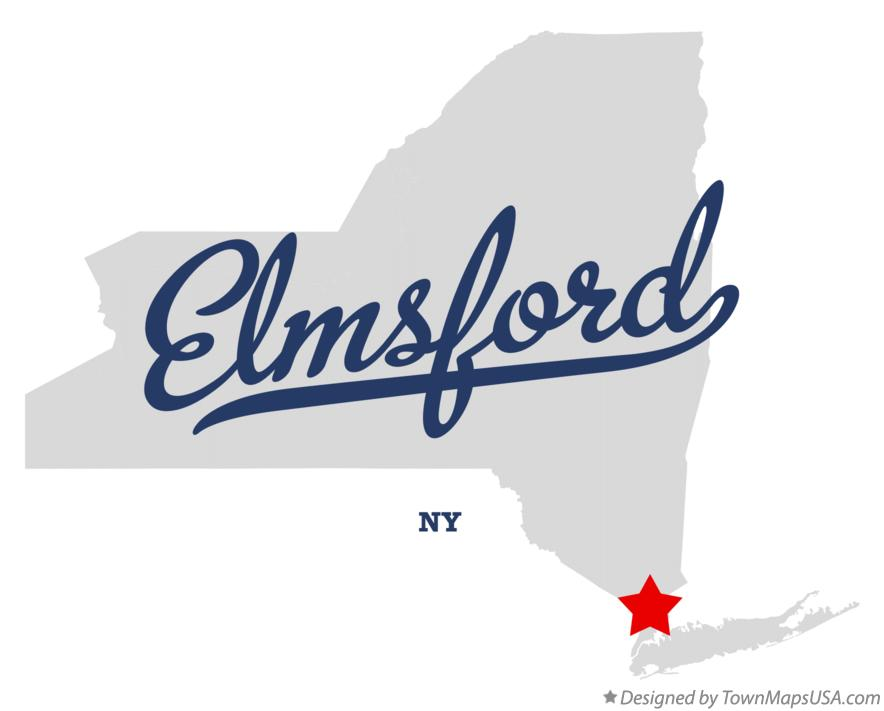Map of Elmsford New York NY