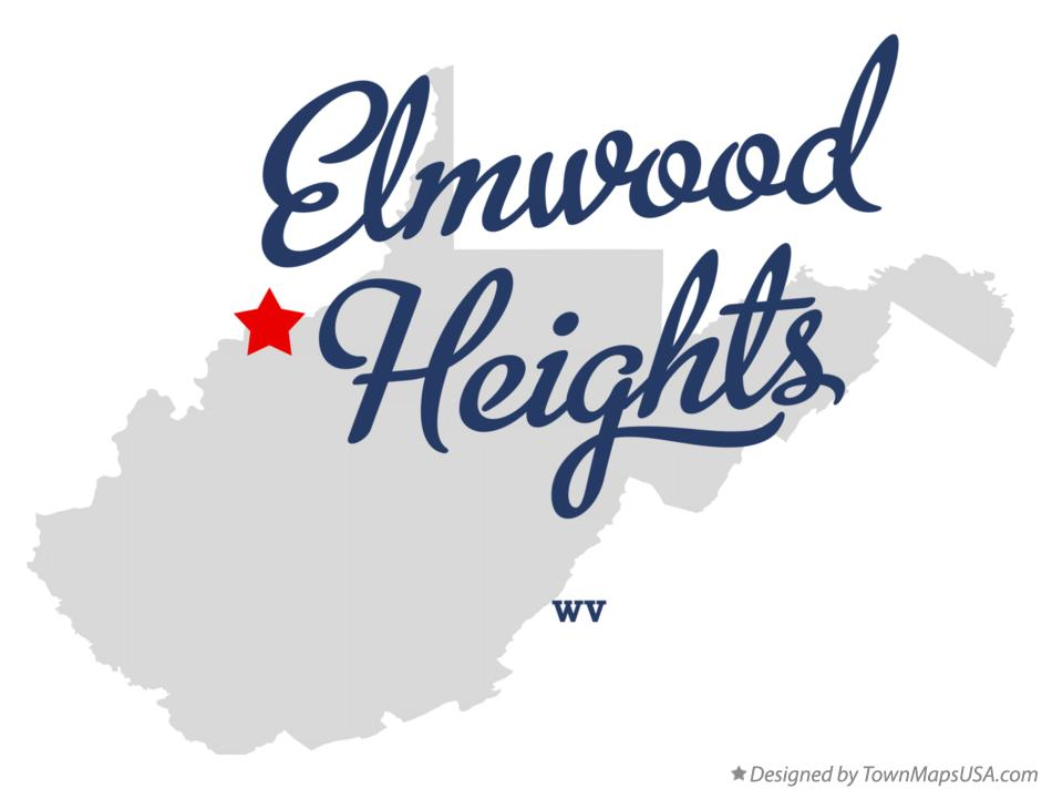 Map of Elmwood Heights West Virginia WV