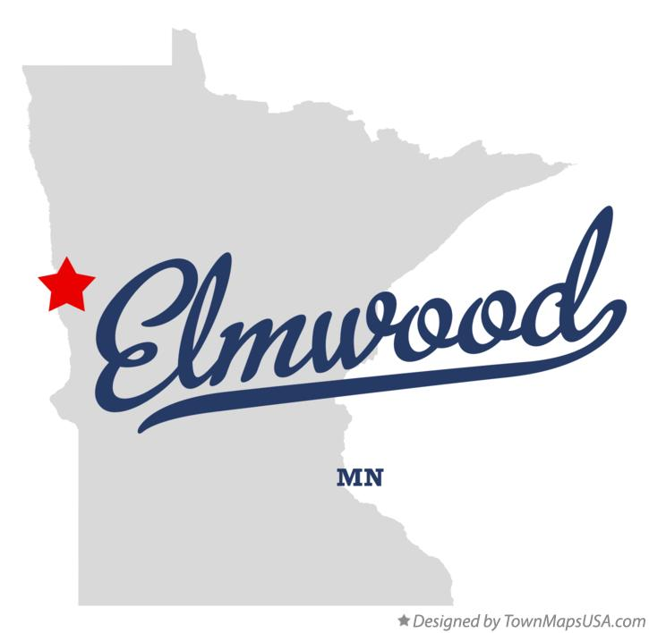 Map of Elmwood Minnesota MN