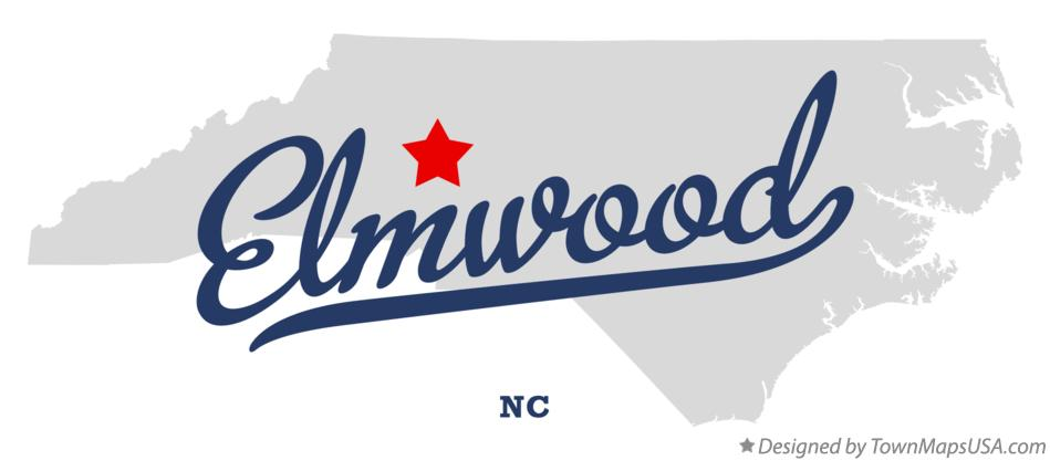 Map of Elmwood North Carolina NC
