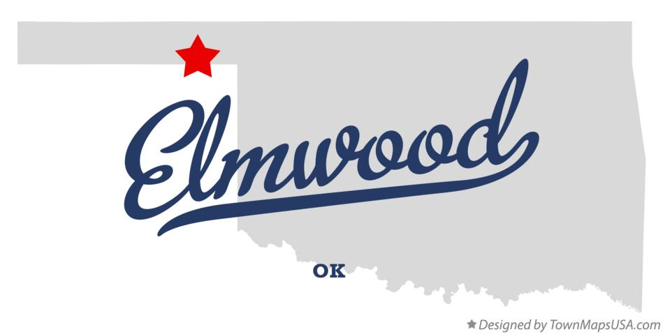 Map of Elmwood Oklahoma OK