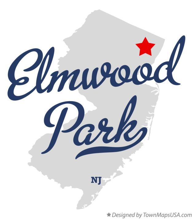 Map Of Elmwood Park Nj New Jersey