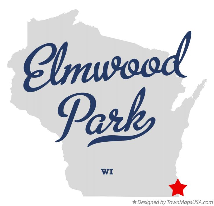 Map of Elmwood Park Wisconsin WI