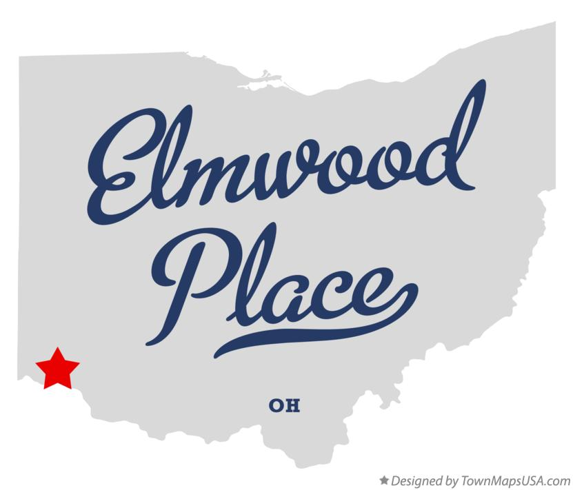 Map of Elmwood Place Ohio OH