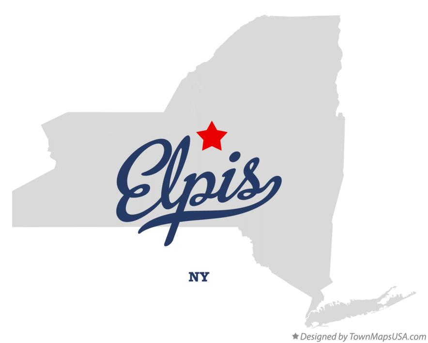 Map of Elpis New York NY