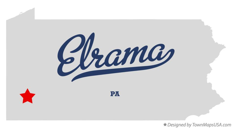 Map of Elrama Pennsylvania PA