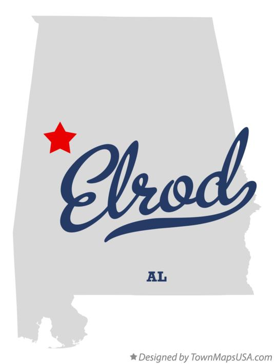 Map of Elrod Alabama AL