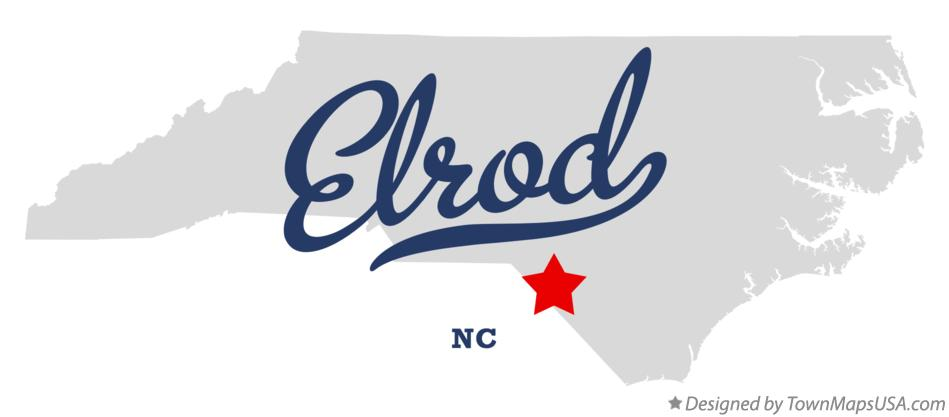 Map of Elrod North Carolina NC