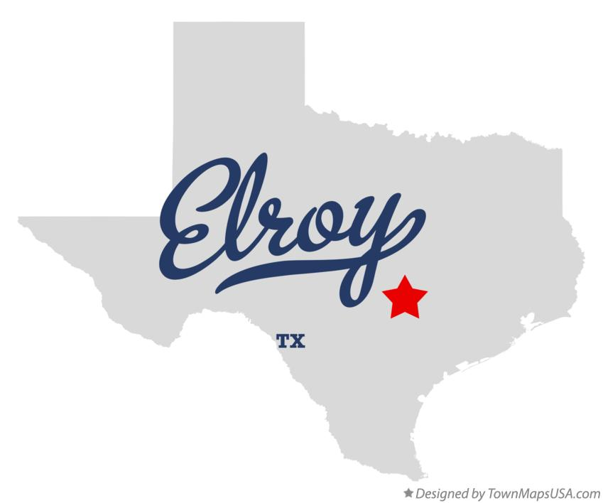 Map of Elroy Texas TX