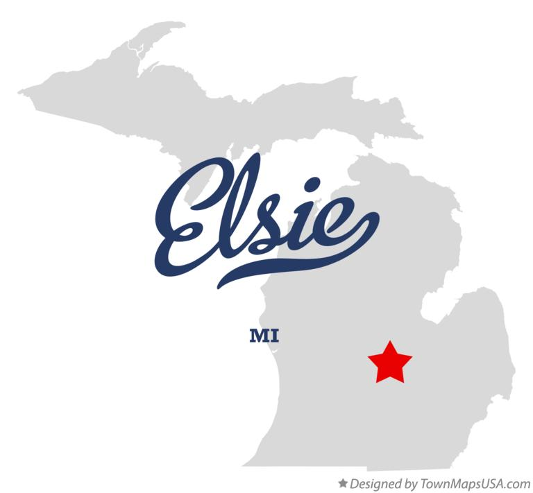 Map of Elsie Michigan MI