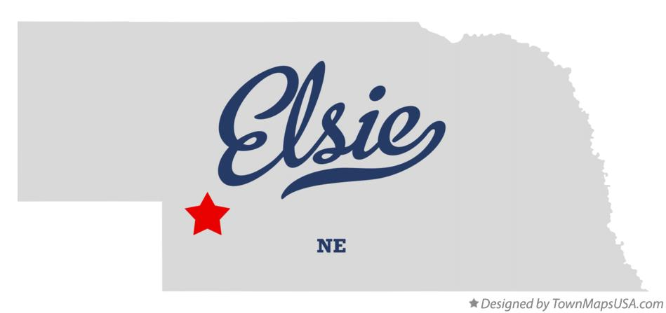 Map of Elsie Nebraska NE