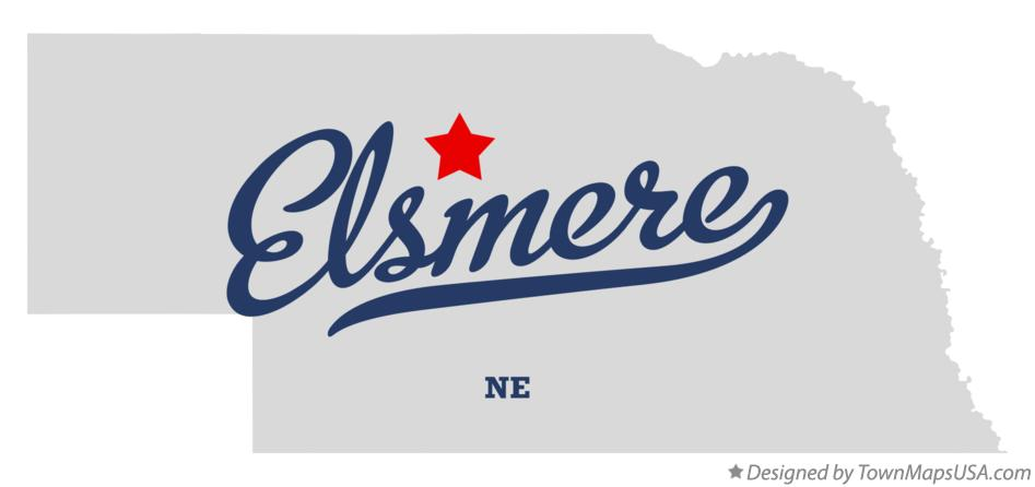 Map of Elsmere Nebraska NE