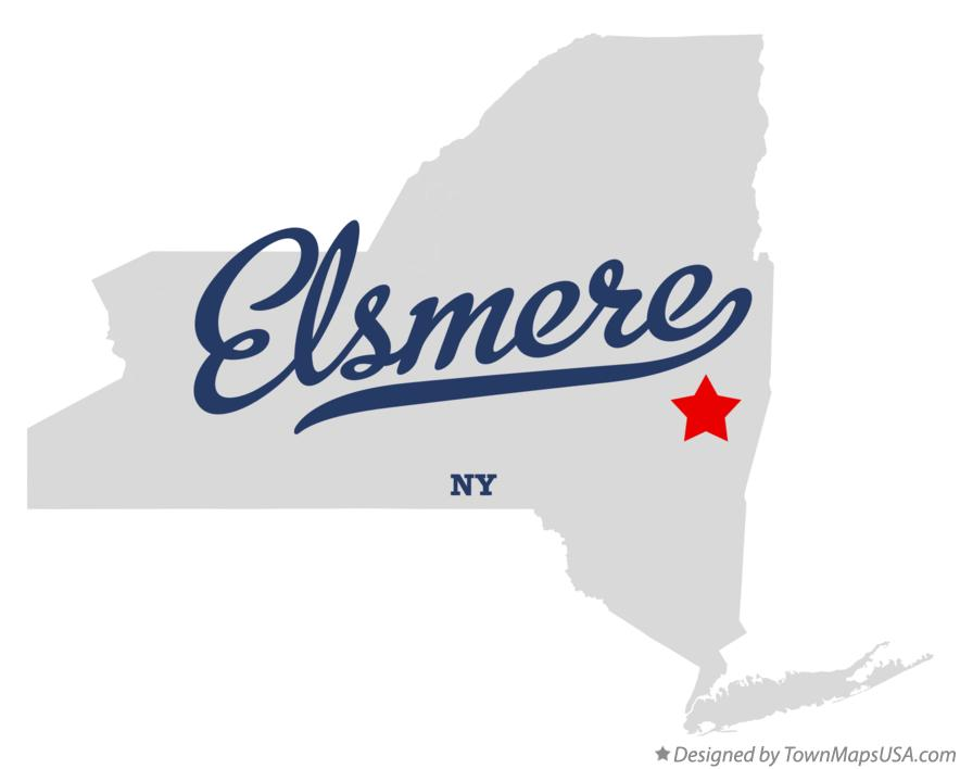Map of Elsmere New York NY
