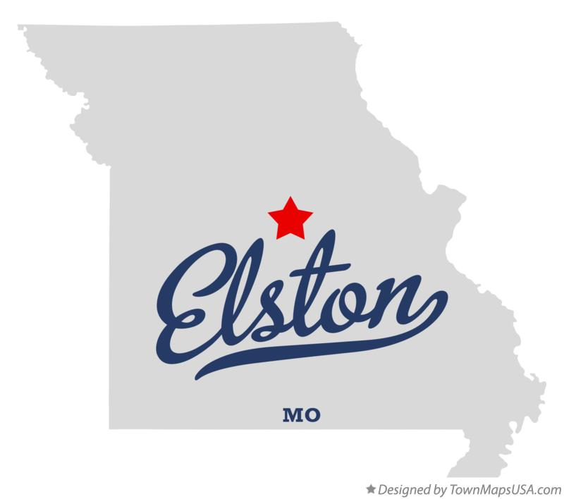 Map of Elston Missouri MO