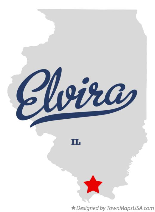 Map of Elvira Illinois IL