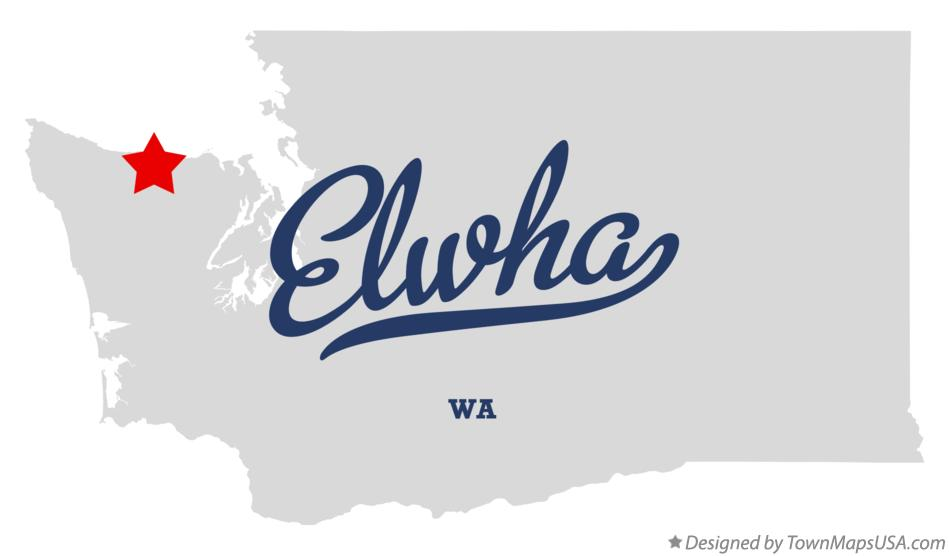 Map of Elwha Washington WA