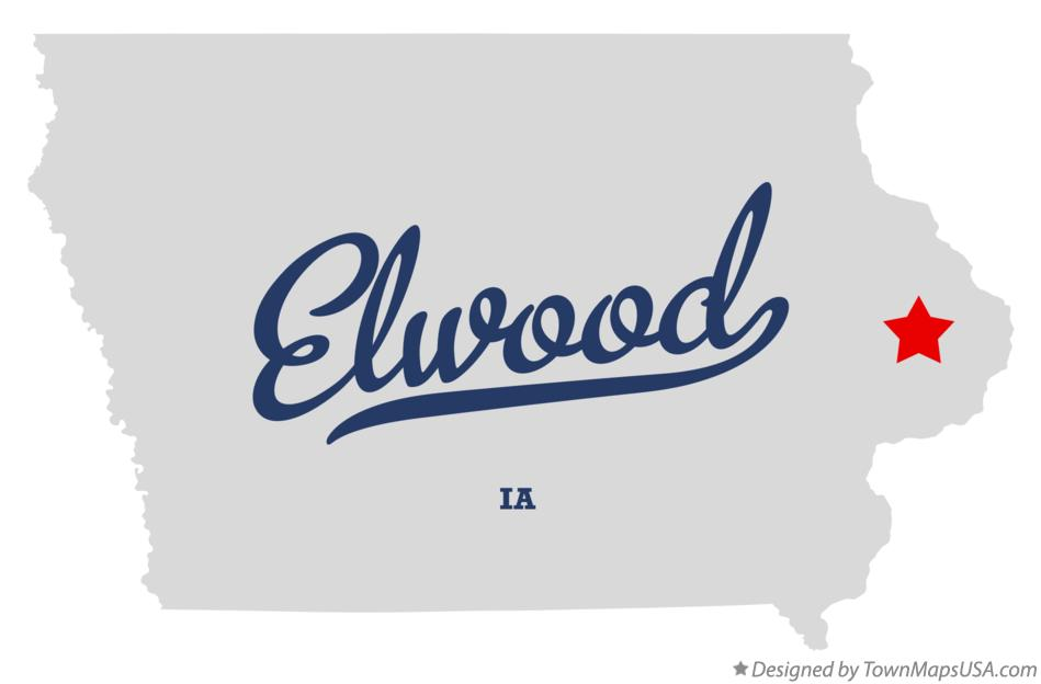 Map of Elwood Iowa IA