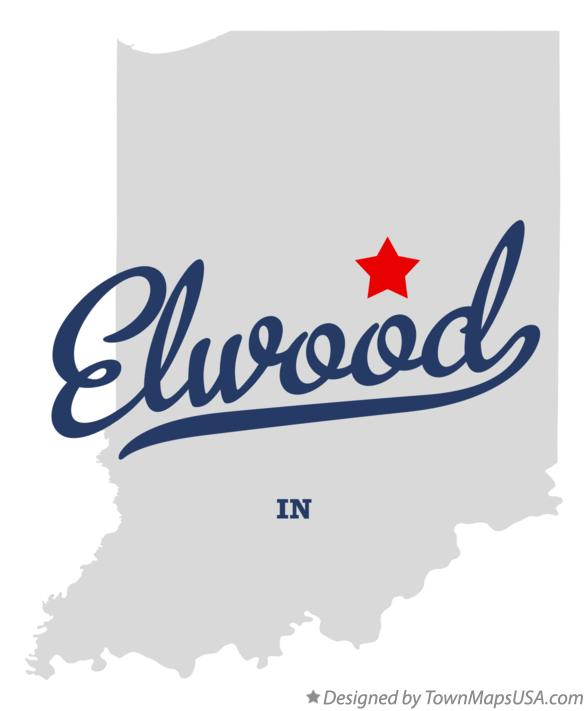 Map of Elwood Indiana IN