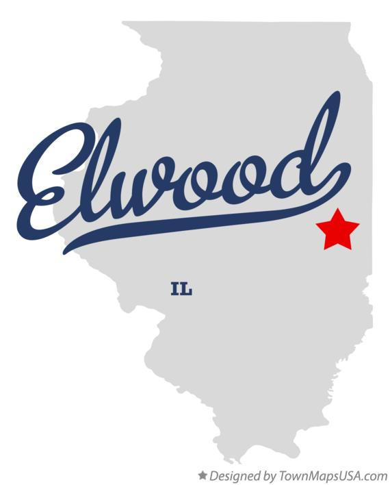 Map of Elwood Illinois IL