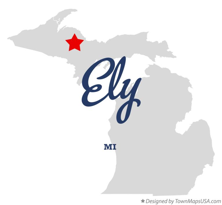 Map of Ely Michigan MI