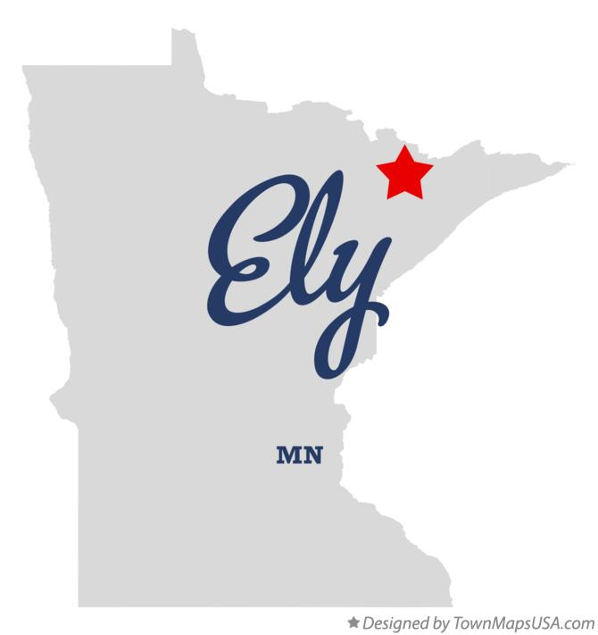 Map of Ely Minnesota MN