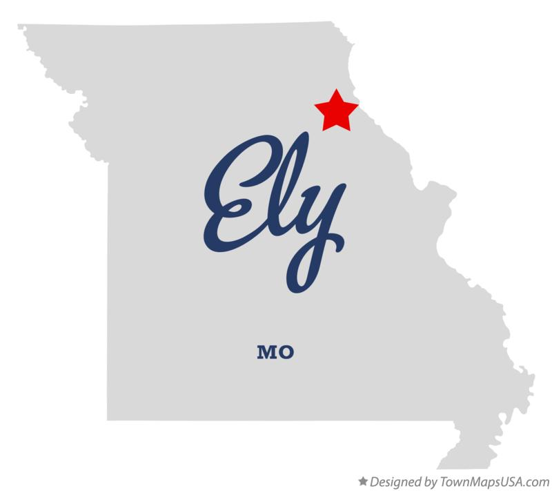 Map of Ely Missouri MO