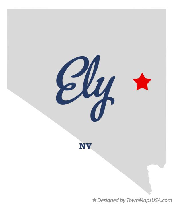 Map of Ely Nevada NV