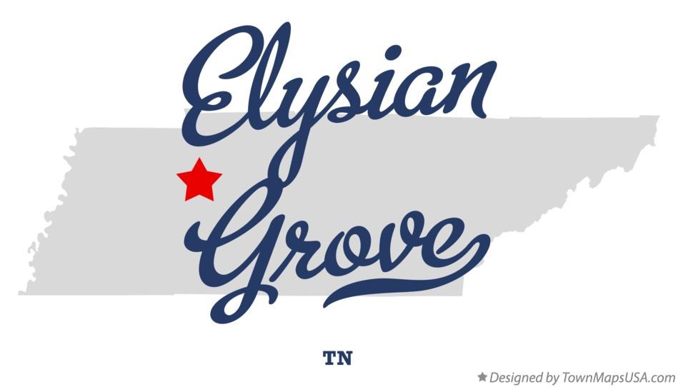 Map of Elysian Grove Tennessee TN